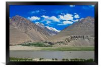 Pamir Mountains in the Wakhan Valley #14, Framed Print