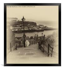 99 Steps at Whitby, Framed Print