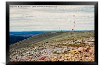 Telecommunications Tower On Top Of The Fjell, Framed Print