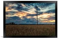 Evening By The Barley Fields, Framed Print