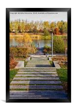 Fishing At The End Of The Stairs, Framed Print