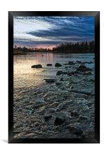 Dramatic Sky Over The Rapids, Framed Print