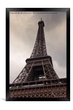Heavy Clouds Over Eiffel Tower, Framed Print