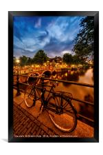 AMSTERDAM Evening impression from Brouwersgracht , Framed Print