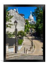 Looking up towards  Sacre Couer , Framed Print