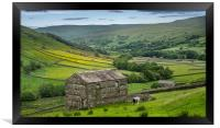 The old barns in Swaledale, Framed Print