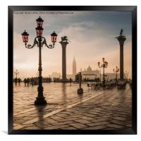 Early Morning Light in Venice, Framed Print