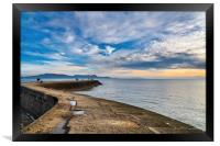 Winter Sunrise from the Cobb Wall at Lyme Regis   , Framed Print
