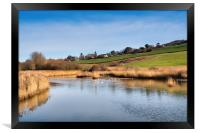 River Char at Charmouth, Framed Print