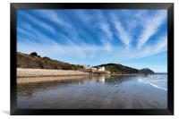 Winter Seascape At Charmouth     , Framed Print