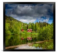 The reflected hous, Framed Print