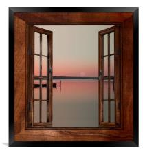 From the window, Framed Print