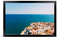 Aerial Panoramic View From Papa Luna Castle Of Pen, Framed Print