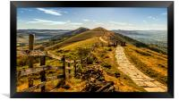 The Great Ridge in the Peak District, Framed Print