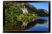 Kylemore Abbey reflections, County Galway, Framed Print