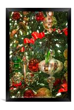 The magical holiday seasonal display in Bellagio, Framed Print
