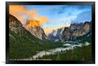 Dramatic View of Yosemite National Park Vista, Framed Print