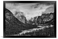 Dramatic View of Yosemite National Park from Tunne, Framed Print