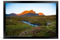 Quinag sunrise II, Framed Print
