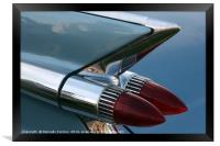 Classic Car Tail Light, Framed Print