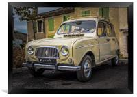 Classic Renault type 4 - Beige, Framed Print
