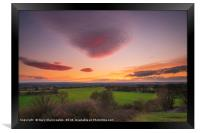 Sunset from the hill, Framed Print