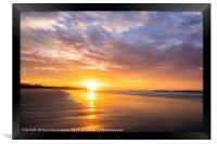 Zigzags on the Beach, Framed Print