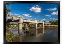 The White Railway Bridge at Carmarthen,, Framed Print