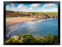 Barafundle Beach, Pembrokeshire., Framed Print