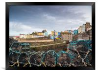Tenby Harbour, Pembrokeshire, Wales., Framed Print
