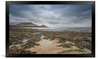 Winters day at Mumbles., Framed Print