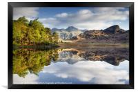The Langdale Pikes Reflecting, Framed Print
