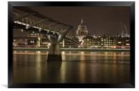 Millenium Bridge & St pauls Cathedral, Framed Print