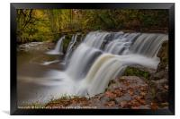 Waterfall in Autumn, Framed Print