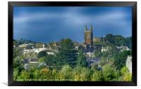 Totnes Church and Castle in Autumn, Framed Print