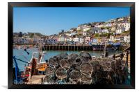 Brixham Harbour with Crab Pots, Framed Print