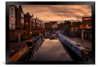 The Canals of Birmingham, Framed Print