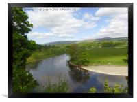 Ruskin's View, Kirby Lonsdale, Cumbria, Framed Print