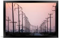 Power Lines California, Framed Print