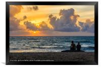 Watching the sunset, Framed Print