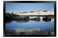 Rock pool Fuerteventura, Framed Print