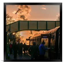 Boarding the Evening Train, Framed Print