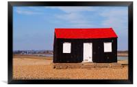 Rye Harbour Red and Black Fisherman's Hut, Framed Print