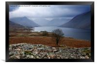 Low cloud on Wastwater, Framed Print