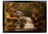 Lumsdale Valley Waterfall, Framed Print