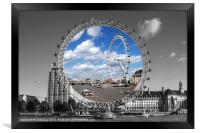 The London Eye, Framed Print