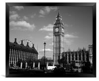 Parliament Square in Black and White, Framed Print