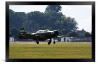 Nanchang CJ6 fighter coming in to land, Framed Print