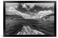 Puerto Soller entrance to The Harbour, Framed Print