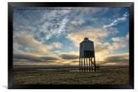 Sunset over Burnham On Sea Lighthouse, Framed Print